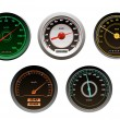 Stock Vector: Racing cars speedometers set