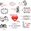 Love and Valentine' Day calligraphic headers — Stock Vector