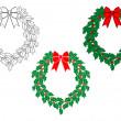 Christmas wreath — Stock Vector #32770163