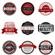 Premium quality and guarantee labels set — Stock Vector
