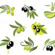 Green and black olives set — Stock Vector #33247085