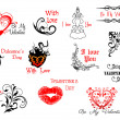 Valentine's Day headers and scripts — Image vectorielle