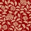 Red floral seamless pattern — Stock Vector #34775333
