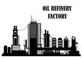 Oil refinery factory — Stock Vector