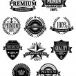 Banners and badges for guarantee design — Stock Vector