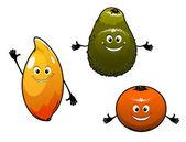 Avocado, mango and orange — Stok Vektör