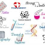 Medicine and science symbols — Stock Vector