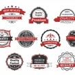 Vintage labels and banners set — Stock Vector
