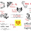 Valentine's Day holiday design elements — Image vectorielle