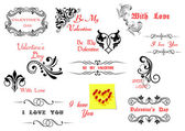 Valentine's Day holiday design elements — Vettoriale Stock