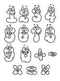 Conjunto de cifras de dibujos animados — Vector de stock