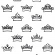 Ornated heraldic crowns set — Stock Vector