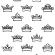 Ornated heraldic crowns set — Stock Vector #36056305