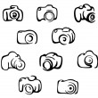 Camera icons and symbols set — Stock Vector