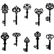Antique keys set — Stockvektor  #36056347
