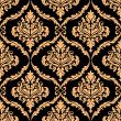 Damask floral pattern with brown colours — Image vectorielle