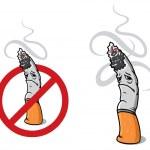 Closeup cigarette for sign of prohibition — Stock Vector