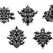 Decorative elements of damask pattern — Imagens vectoriais em stock