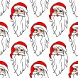 Seamless pattern with funny Santa — Stok Vektör