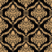 Damask floral pattern with brown colours — Stock Vector