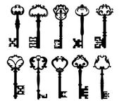 Vintage keys — Stock Vector
