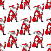 Nahtlose Muster mit Santa claus — Stockvektor
