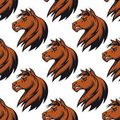 Seamless pattern with majestic stallion — Stock Vector