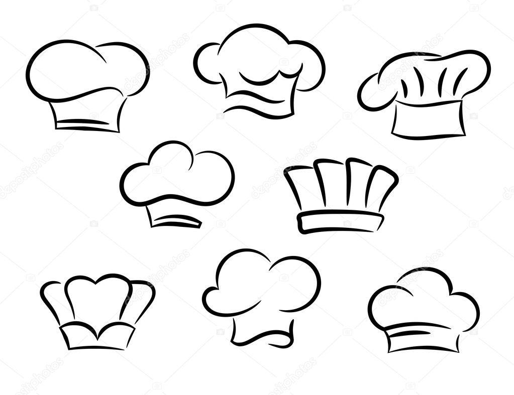 De cocinero sombreros establecen — Vector de stock © Seamartini