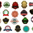 Stock Vector: Badges and labels set