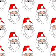 Santa Claus seamless pattern background — Stock Vector