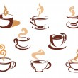Cups with fragrant coffee — Stock Vector