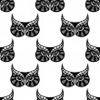 Owl bird seamless pattern — Stock Vector