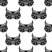 Owl bird seamless pattern — Vector de stock