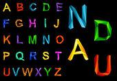 Origami alfabeto conjunto — Vector de stock