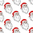 Cartoon Santa seamless pattern — Stock Vector
