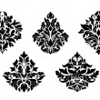 Vintage floral design elements — Stock Vector