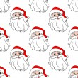 Funny Santa seamless pattern background — Cтоковый вектор