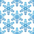 Seamless pattern with blue snowflakes — Stock Vector