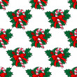Christmas candy stick seamless pattern — Stock Vector