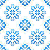Winter semless pattern with blue snowflakes — Stock Vector