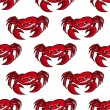 Seamless pattern with red crabs — Stock Vector #38274017