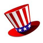 Patriotic American top hat — Stok Vektör
