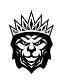 Heraldic crowned Lion — Stok Vektör