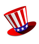 Patriotic American top hat — Stock Vector