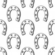 Lucky horse shoes seamless pattern — Stock Vector