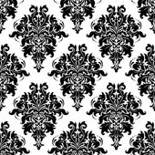 Intricate foliate arabesque seamless pattern — Stock Vector