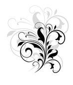 Swirling floral pattern — 图库矢量图片