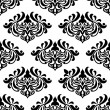 Seamless damask-style floral pattern — Stock Vector