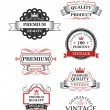 Premium quality label collection — Stock Vector