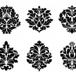 Stock Vector: Six different floral arabesque designs